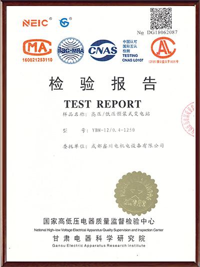 YBM12/0.4箱变检验报告